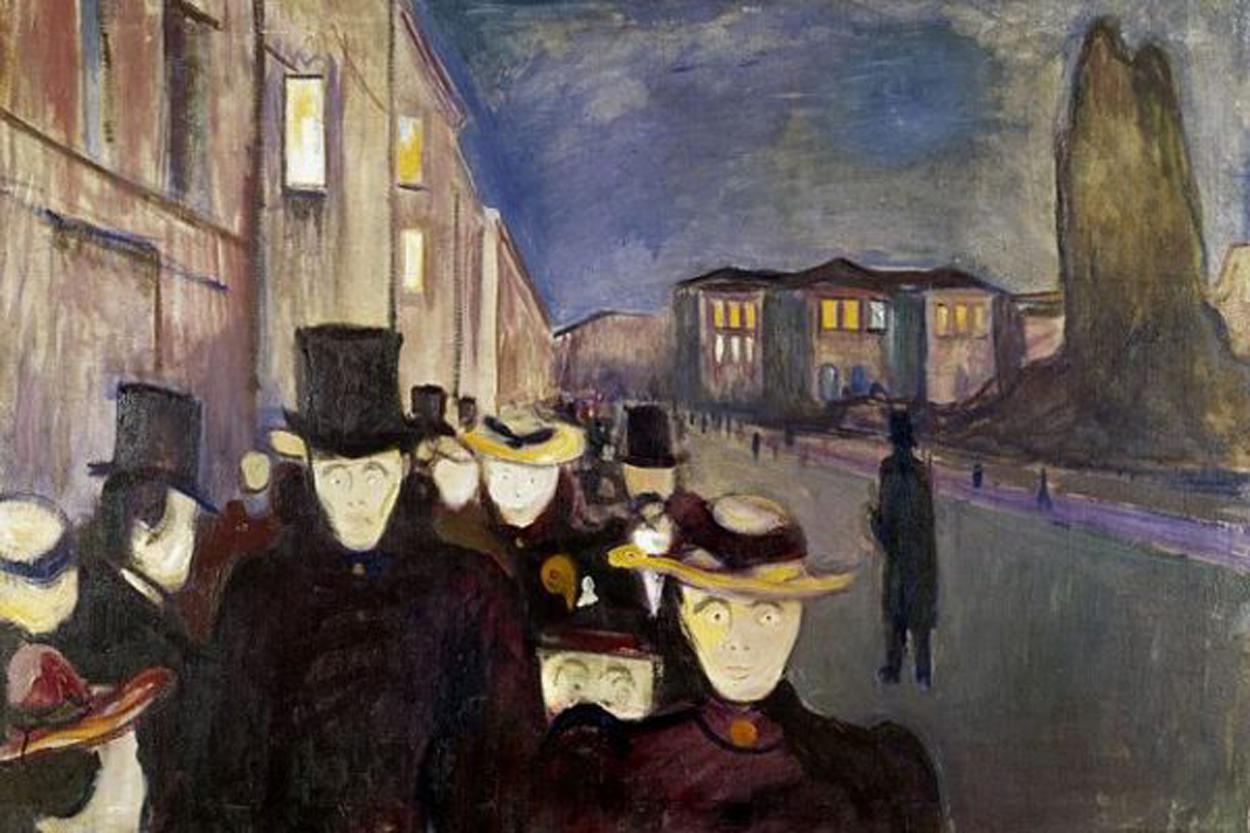 Anochecer en la Calle Karl Johan'